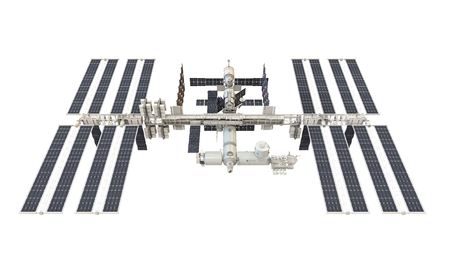 고립 된 국제 우주 정거장 스톡 콘텐츠