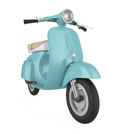 Vintage Retro Scooter Isolated Stock Photo