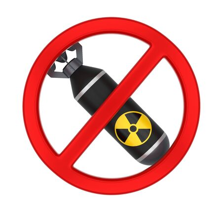 No Nuclear Bomb Sign Isolated