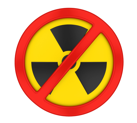 Radiation Forbidden Sign Isolated