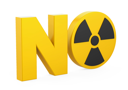 NO Radiation Sign Isolated