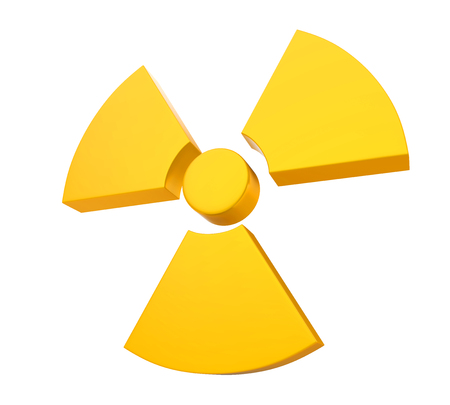 uranium: Radioactive Sign Symbol Isolated Stock Photo