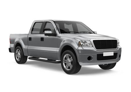 Pickup Truck Isolated 版權商用圖片