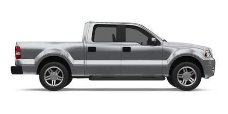 Pickup Truck Geïsoleerd Stockfoto