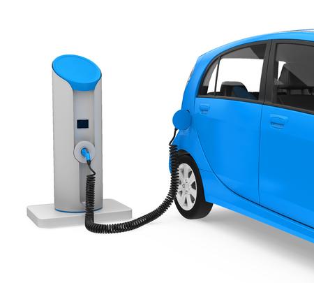 Elektro-Auto in Ladestation