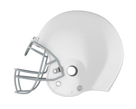 American Football Helmet Isolated Stock Photo