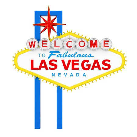 Willkommen bei Fabulous Las Vegas Sign Isolated
