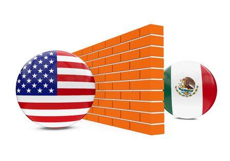 America-Mexico Border Wall