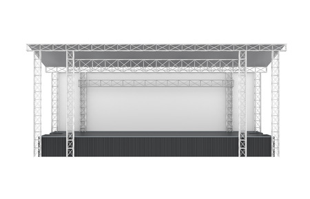 Outdoor Concert Stage Isolated