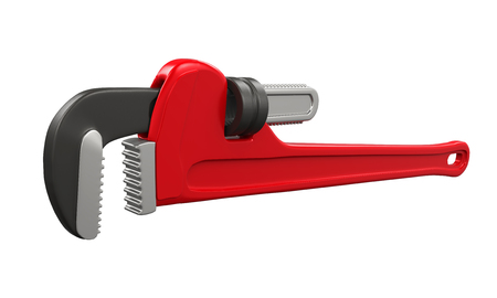 Pipe Wrench Isolated