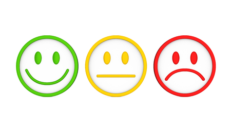 Smiley Faces Icons Isolated Standard-Bild
