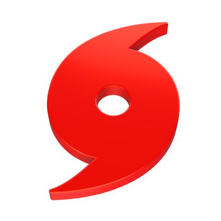 Rode orkaan symbool geïsoleerd Stockfoto