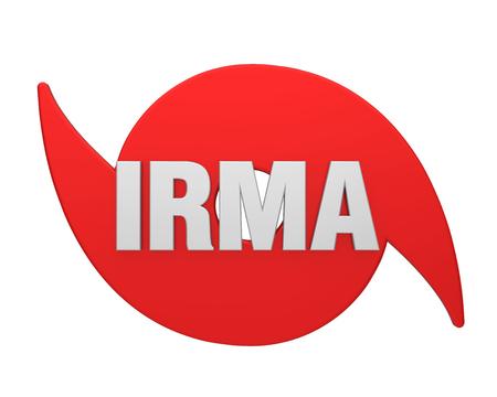 windstorm: Hurricane Irma Symbol Isolated