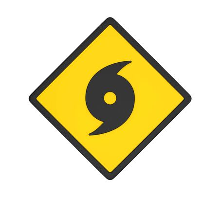 Hurricane Warning Sign Isolated