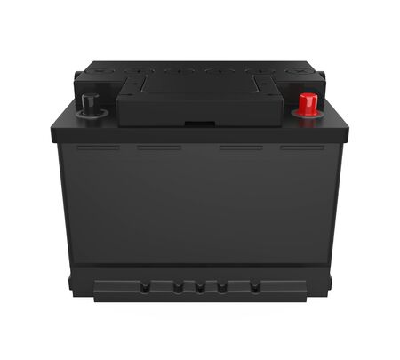 Car Battery Isolated Stock Photo