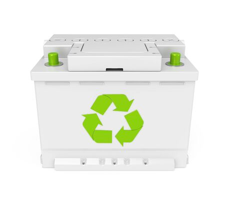 Recycle Car Battery Isolated