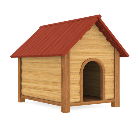 Doghouse Geïsoleerd Stockfoto
