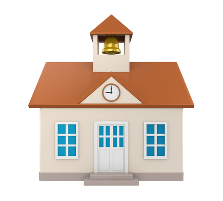 School Building Icon Isolated