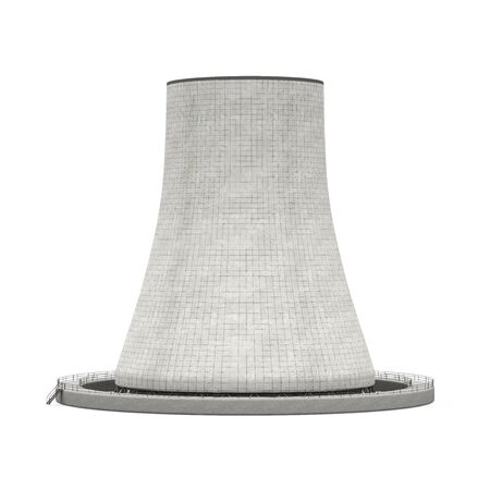 condensation: Nuclear Power Plant Isolated Stock Photo