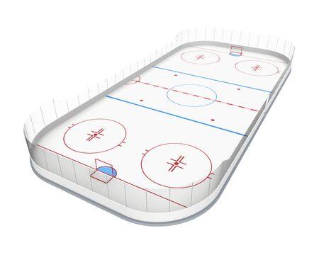 hockey goal: Ice Hockey Rink Isolated