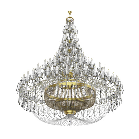Large Chandelier Isolated