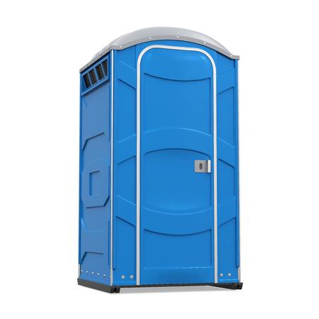 Tragbare Toilette isoliert Standard-Bild - 87017560