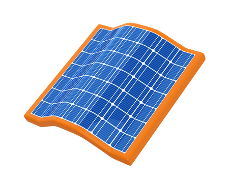Roof Solar Panel Isolated
