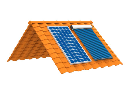 Zonnepaneel en Solar Heat Pipe Collector