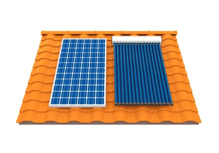 Zonnepaneel en Solar Heat Pipe Collector