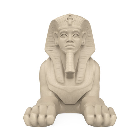 Egyptian Sphinx Statue Isolated