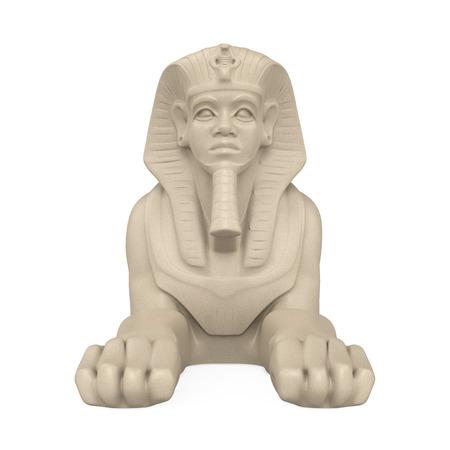 Egyptische Sphinx Statue Isolated