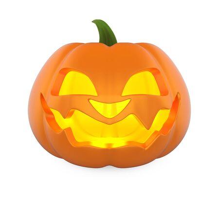 Jack O Lantern Halloween Pumpkin Isolated Stock Photo