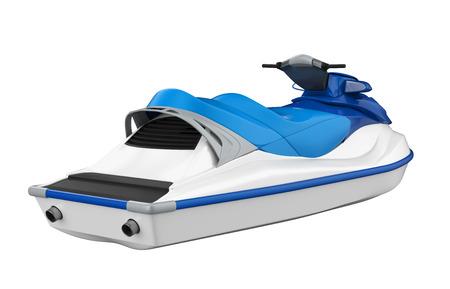 bateau de course: Jet Ski isolé Banque d'images