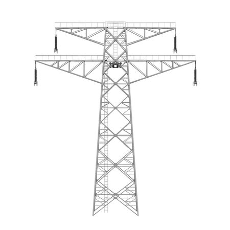 Power Transmission Tower Isolated Stok Fotoğraf