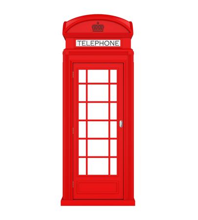 Britse Rode Telefoonbooth Geïsoleerd