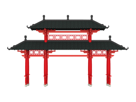 Chinese Gate Isolated