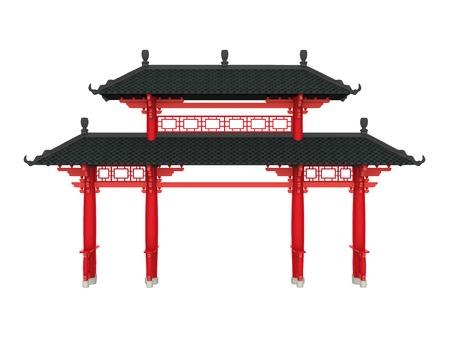 Chinese poort geïsoleerd