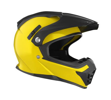 Motorcross helm geïsoleerd