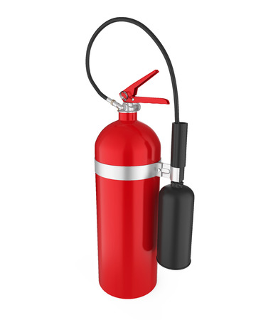 Fire Extinguisher Isolated Stock Photo