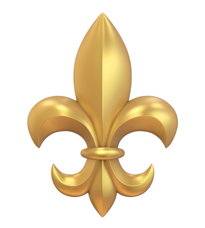 Fleur-de-lis Isolated Stock Photo - 89193934