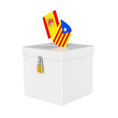 Catalonia Ballot Box Isolated Stock Photo