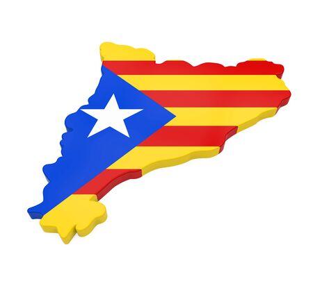 Catalonia Map Isolated Stock Photo