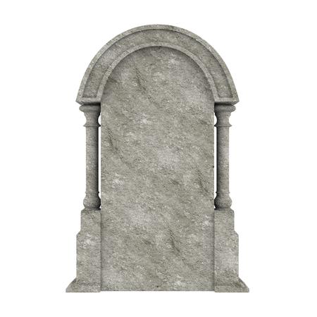 分離された空白の墓石