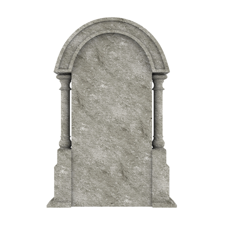 Blank Gravestone Isolated