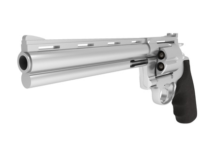 Revolver Handgun Isolated