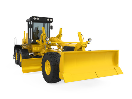 earth mover: Motor Grader Isolated Stock Photo