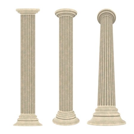 roman pillar: Classic Columns Isolated
