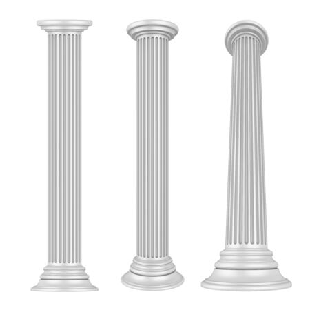 doric: Classic Columns Isolated