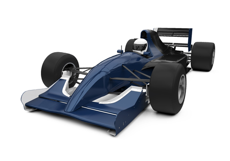 Formula One Race Car Isolated Stock Photo