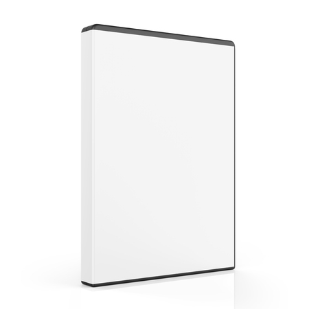 blu ray: Blank DVD Case Isolated